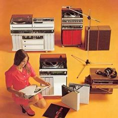 vintage records players