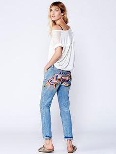 Free People Daybreak Embroidered Skinny, $168.00