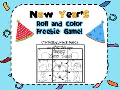 """FREE MATH LESSON - """"FREEBIE: New Year's Roll-and-Add to Color Game"""" - Go to The Best of Teacher Entrepreneurs for this and hundreds of free lessons.  #FreeLesson   #Math   #NewYear  http://www.thebestofteacherentrepreneurs.net/2013/12/free-math-lesson-freebie-new-years-roll.html"""