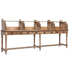 Oak Tripostal Desk | From a unique collection of antique and modern desks and writing tables at https://www.1stdibs.com/furniture/tables/desks-writing-tables/