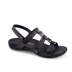 Amber Adjustable Sandal (Black Croc)