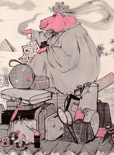 my vintage book collection (in blog form).: Miss Harriet Hippopotamus and the Most Wonderful - illustrated by Edward Leight