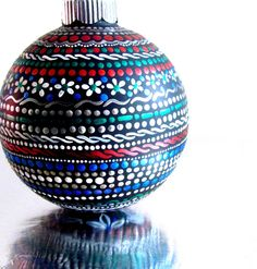 Colorful Ornament Hand painted glass ornament от PearlesPainting