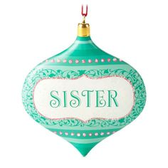 Sister Hallmark Gift Ornament