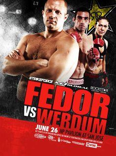 Fedor Werdum Strikeforce UFC MMA Poster