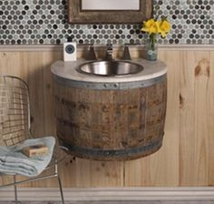 Wine Barrel Sink? LOVE LOVE LOVE