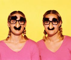 Lip Waxing: Let's Talk About What to Do With Your Lady-'Stache Happy Sisters Day, Sister Day, Groucho Marx, Hulk Hogan, Lip Waxing, Fake Beards, Fake Mustaches, How To Use Makeup, Charles Chaplin