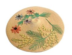 chapeau niçois embroidered hat from NICE south of France