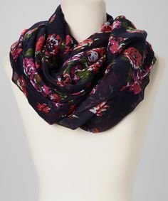 allover floral infinity scarf