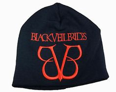 Beanie Hats for emos | Details about BLACK VEIL BRIDES Rock Band Emo Beanie Hat