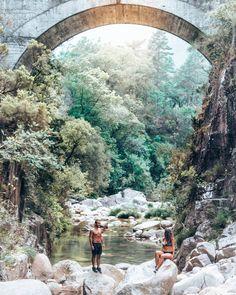 Portela do Homem Waterfall in Gerês, Portugal.