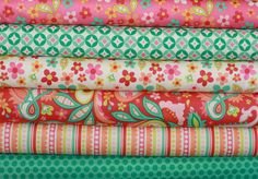 Sweet Nothings Fabric by Zoe Pearn for Riley Blake - Fat Quarter Bundle, 7 total