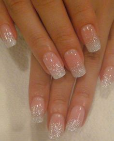 Pretty Shinning Gel Nails - love the shape too!