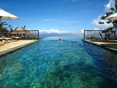 I travel abroad at least twice a week via WiFi!  Infinity Pool in Bali