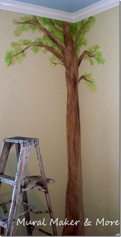 How to Paint a Simple Tree Mural - Just Paint It Blog