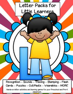 LETTER L - Letters for little learners – 62 pg. - recognition, sound, tracing and craftivities. Low prep. Appropriate for pre-readers.