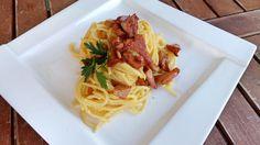 Špagety carbonara s kuriatkami