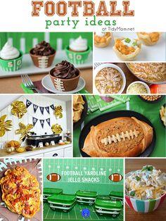 Tons of Super Bowl football party ideas from @cheryl ng Sousan | Tidymom.net