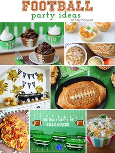 Football party ideas at TidyMom.net #superbowl #football #tailgaiting