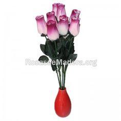 rosa-grande-blanca-morada Grande, Plants, Wooden Flowers, Roses, Plant, Planets