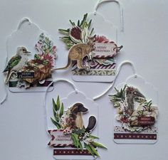 Jo with you again today to share with you a really super quick little creation today. Kaisercraft products: Under The Gumtrees collection C… Australian Christmas Cards, Aussie Christmas, Summer Christmas, Create Christmas Cards, Christmas Gift Tags, Christmas Ornaments, Christmas Stuff, Christmas In Australia, Leaf Cards