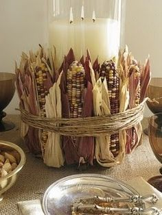 Kitchen table decoration, cute for thanksgiving, or autumn get together.