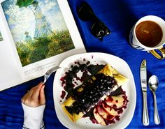 A touch of Paris'🗼 • • • Instagram: pennsylvaniaprep97 #prep #preppy #prepster #preppylife #frat #fratty #ivy #ivyleague #food #frenchconnection #ivankatrump #claudemonet #art #coffee #coffeebreak #style #brunch #crepes #blueberry #pic #picture #womensfashion #pinterest #pin #trending