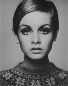 A picture from the exhibition - 'Twiggy in 1966' at the National Portrait Gallery