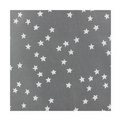 Tissu batiste nuée d'étoiles blanches fond gris