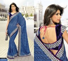 blouse back neck designs for cotton sarees