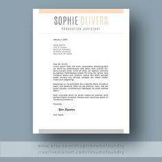 Resume Design : Modern Resume Template for Word Page Resume Cover - Resumes. Cover Letter For Resume, Cover Letter Template, Letter Templates, Modern Resume Template, Resume Templates, Templates Free, Good Resume Examples, Resume Skills, Word Free