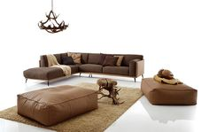 Leather sofa Kris Mix Low - Products - Design