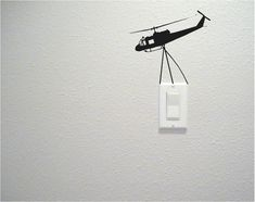 Unique Light Switch And Electrical Outlet Wall Decals By Daydreamer Decals Funny Wall Art, Diy Wall Art, Diy Wall Decor, Home Decor Wall Art, Home Art, Creative Wall Painting, Creative Wall Decor, Wall Painting Decor, Wall Art Designs