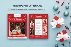 Christmas / Holiday Photography Price List Template Photoshop and Elements template Photo not included in main zip file This is not a Mock-up View Our