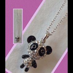 Beautiful Necklace Panda Zirconia Rodhium💟🎀 High quality 💖💜💟 Jewelry Necklaces
