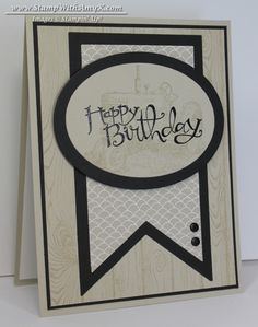 Hardwood With Harvest Blessings Masculine Card - Stampin' Up!