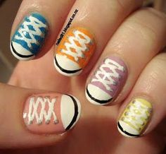 cool Nailed It NZ: Nail art for short nails #9 - Chuck Taylors/shoe nails!... by http://www.nailartdesignexpert.xyz/nail-art-for-kids/nailed-it-nz-nail-art-for-short-nails-9-chuck-taylorsshoe-nails/