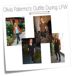 """""""Olivia Palermo's Outfits During LFW (2)"""" by konstantinaaabour ❤ liked on Polyvore featuring Post-It"""