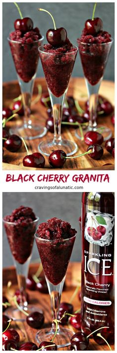 Black Cherry Granita from cravingsofalunatic.com- This sweet treat is incredibly easy to make and utterly refreshing on a hot day. Only 4 ingredients and no machines needed for this recipe. (@CravingsLunatic) #sponsored #flavorup