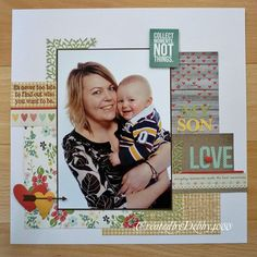 baby layout by Debby Yates