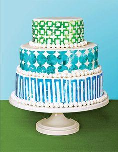 Block Printed Cake