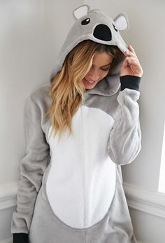 Koala Plush PJ Jumpsuit from Forever Saved to Forever Shop more products from Forever 21 on Wanelo. Pyjamas, Onesie Pajamas, Cute Pajamas, Girls Pajamas, Koala Costume, Bear Costume, Pilou Pilou, Outfits For Teens, Cute Outfits
