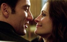 """I think about you all the time. I think about you even when you're with me. I look at you, I can't stop looking at you. I look at you, and I think, """"That woman. That woman knows who I am and loves me anyway. I Think Of You, Look At You, Clive Owen, Old Hands, Julia Roberts, Pretty Woman, Romance, Entertaining, Couple Photos"""