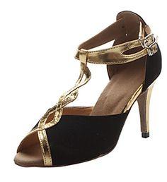 b7d83b83081d Kevin Fashion Womens Tstrap Black Satin Evening Party Bridal Bridesmaid  Wedding Shoes 10 M US