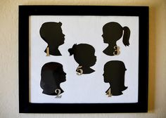 Quick and easy way to create silhouettes. Love her layout as well! Via 71Toes.com