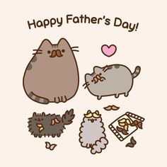 4,648 vind-ik-leuks, 29 reacties - Pusheen (@pusheen) op Instagram: 'Happy #FathersDay!'