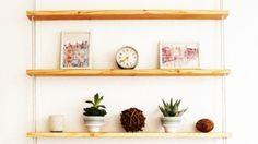IKEA hack: hangende planken met touw