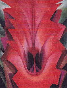 Inside Red Canna 1919 | Georgia O'keeffe | Oil painting reproductions