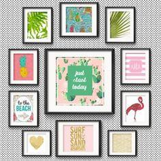 Gold Pineapple Print - Art Print - Tropical - Island ...
