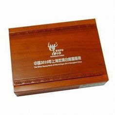 Wooden Gold Coin Box with Laser Engraving Logo